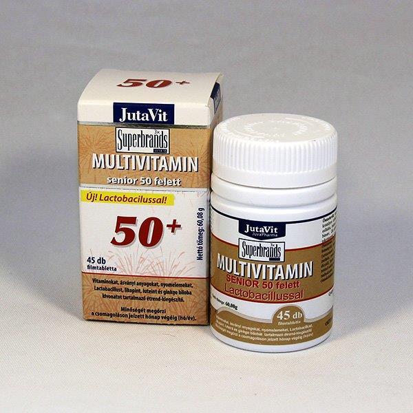 JutaVit Multivitamin Senior 50+ tabletta 45db mindössze Ft-ért az Egészségboltban!